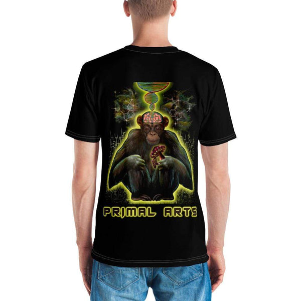 Best fightgear for mma, mixed martial arts, boxing, kickboxing and jiu jitsu. no gi bjj gear buy online PSYCHIC PRIMATE T-shirt - Primal Arts Fightgear -