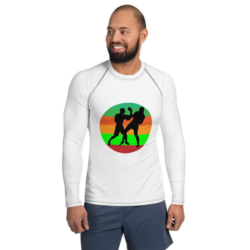 Best fightgear for mma, mixed martial arts, boxing, kickboxing and jiu jitsu. no gi bjj gear buy online Rainbow Warriors Rashguard - Primal Arts Fightgear - XS