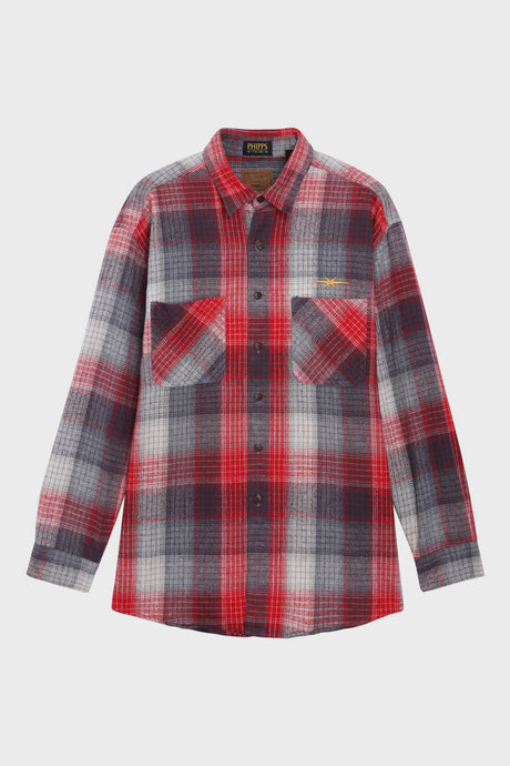 Red and Grey Checked Overshirt