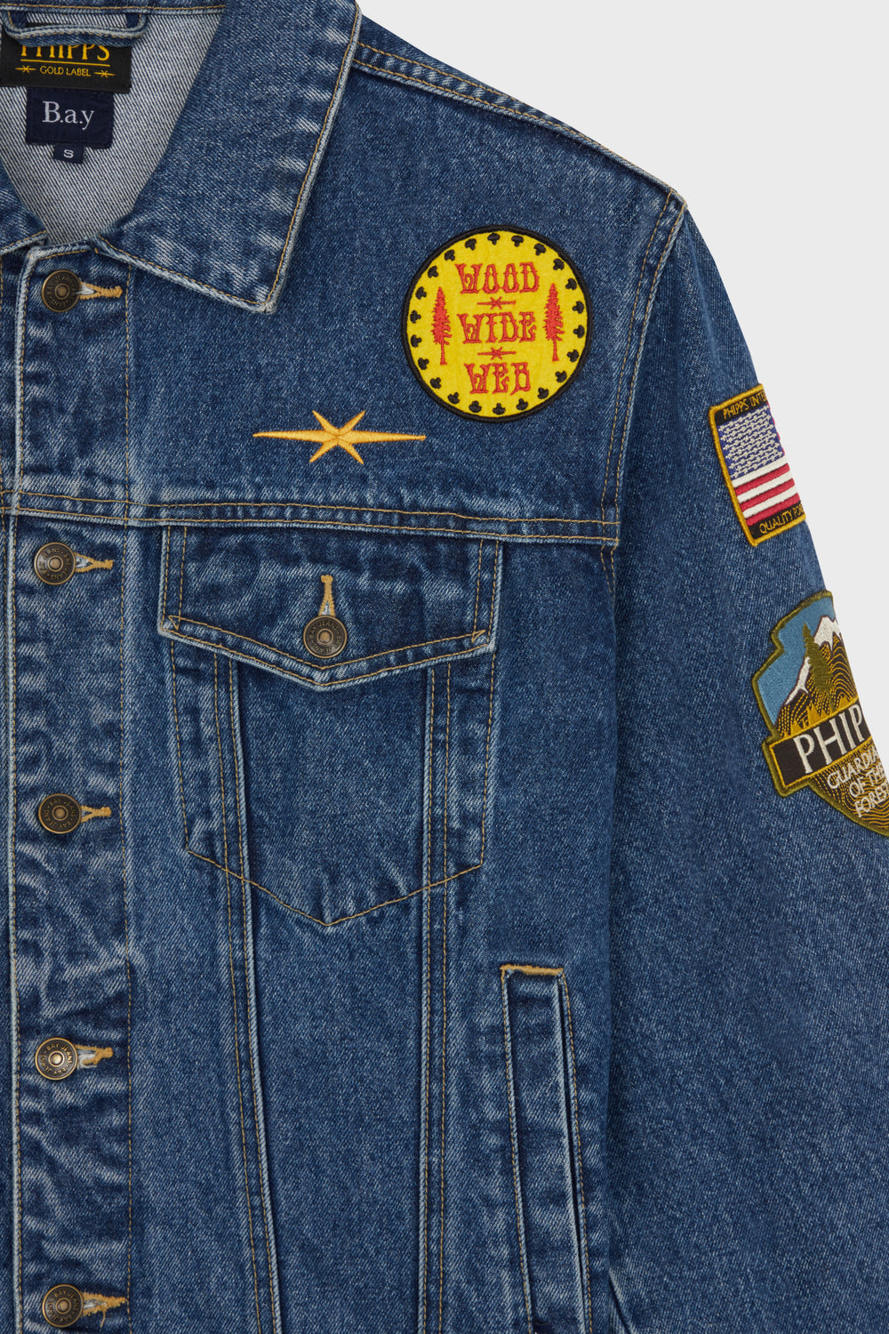 product-color-Patched Denim Jacket