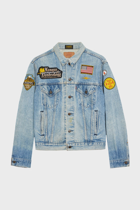 Patched Denim Jacket