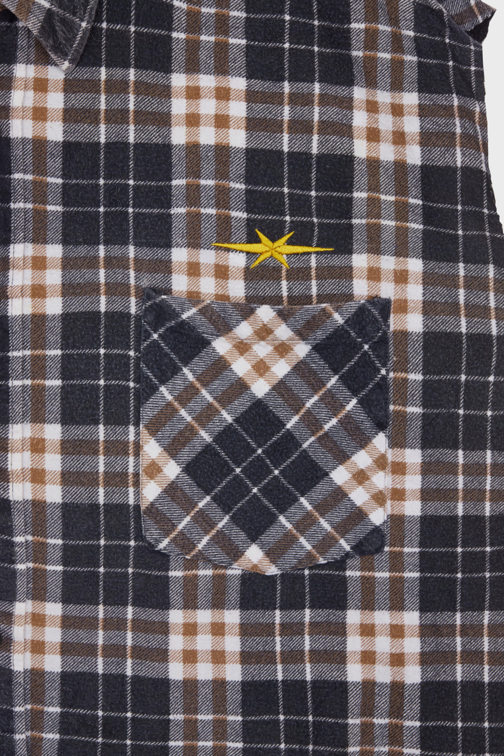 product-color-Sleeveless Plaid Shirt