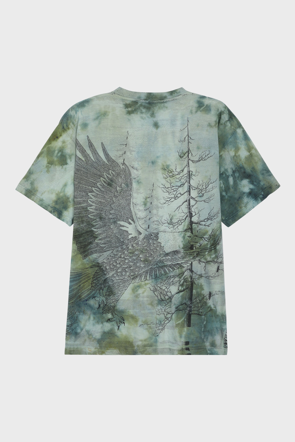 product-color-Bald Eagle Hand-Dyed T-Shirt