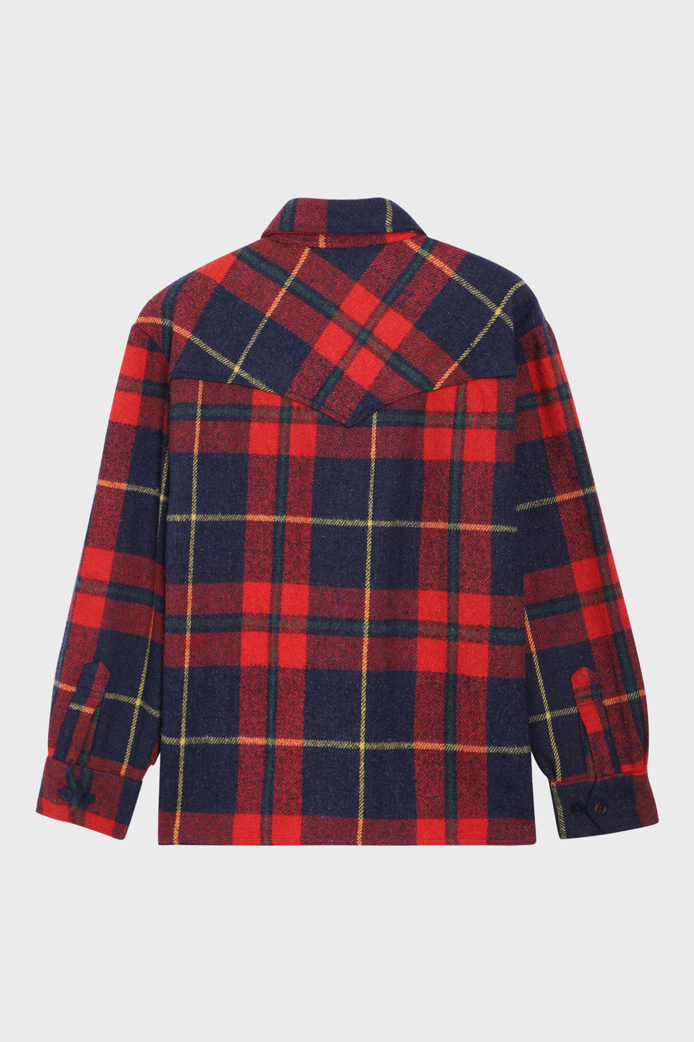 product-color-Red and Navy Checked Overshirt