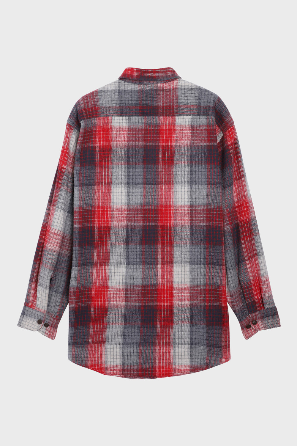 product-color-Red and Grey Checked Overshirt