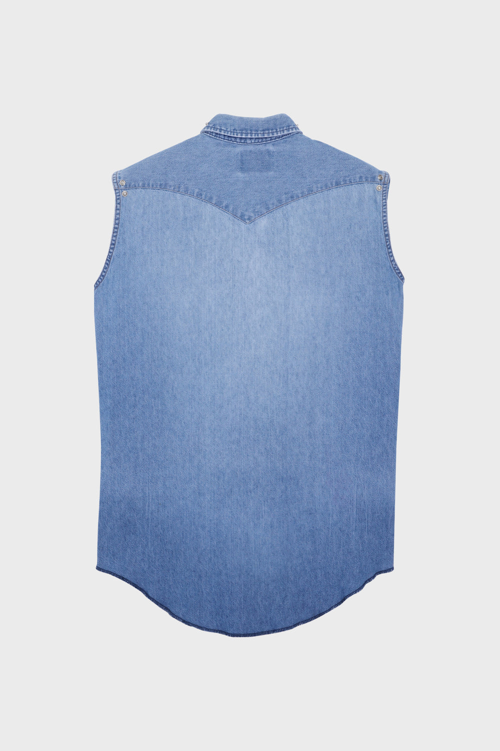 product-color-Sleeveless Rivets Denim Shirt