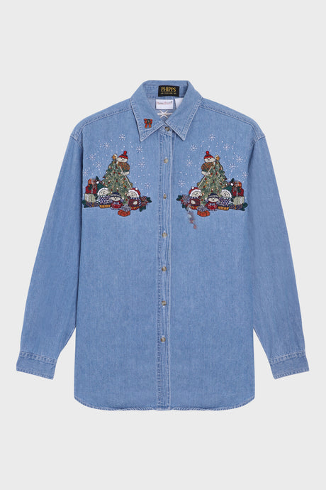 Christmas Denim Shirt