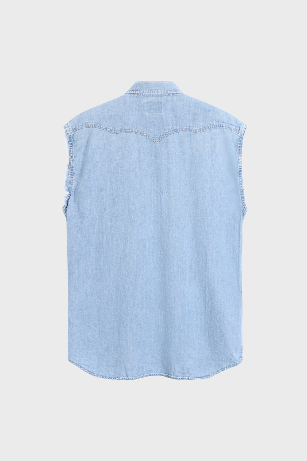 product-color-Sleeveless Denim Shirt