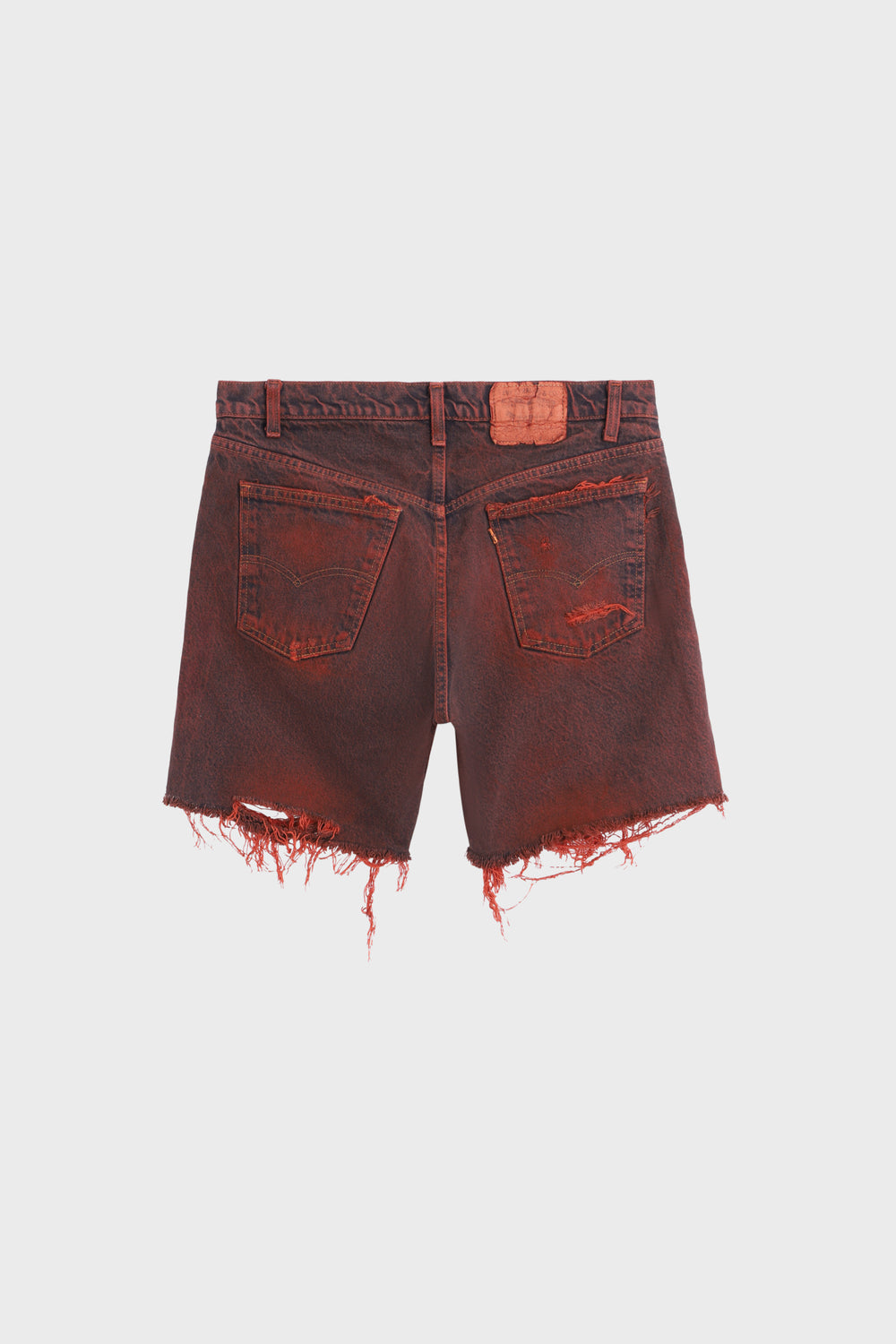 product-color-Distressed cut-off Shorts