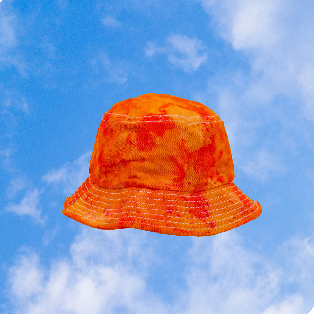 Orange Tie Dye Bucket Hat inspired by Orange Soda | hand-dyed tie dye by BEANDREAM