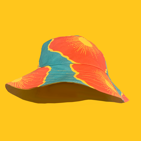 BUCKET HAT - POPPYISH GIANT | designed & handmade by BEANDREAM