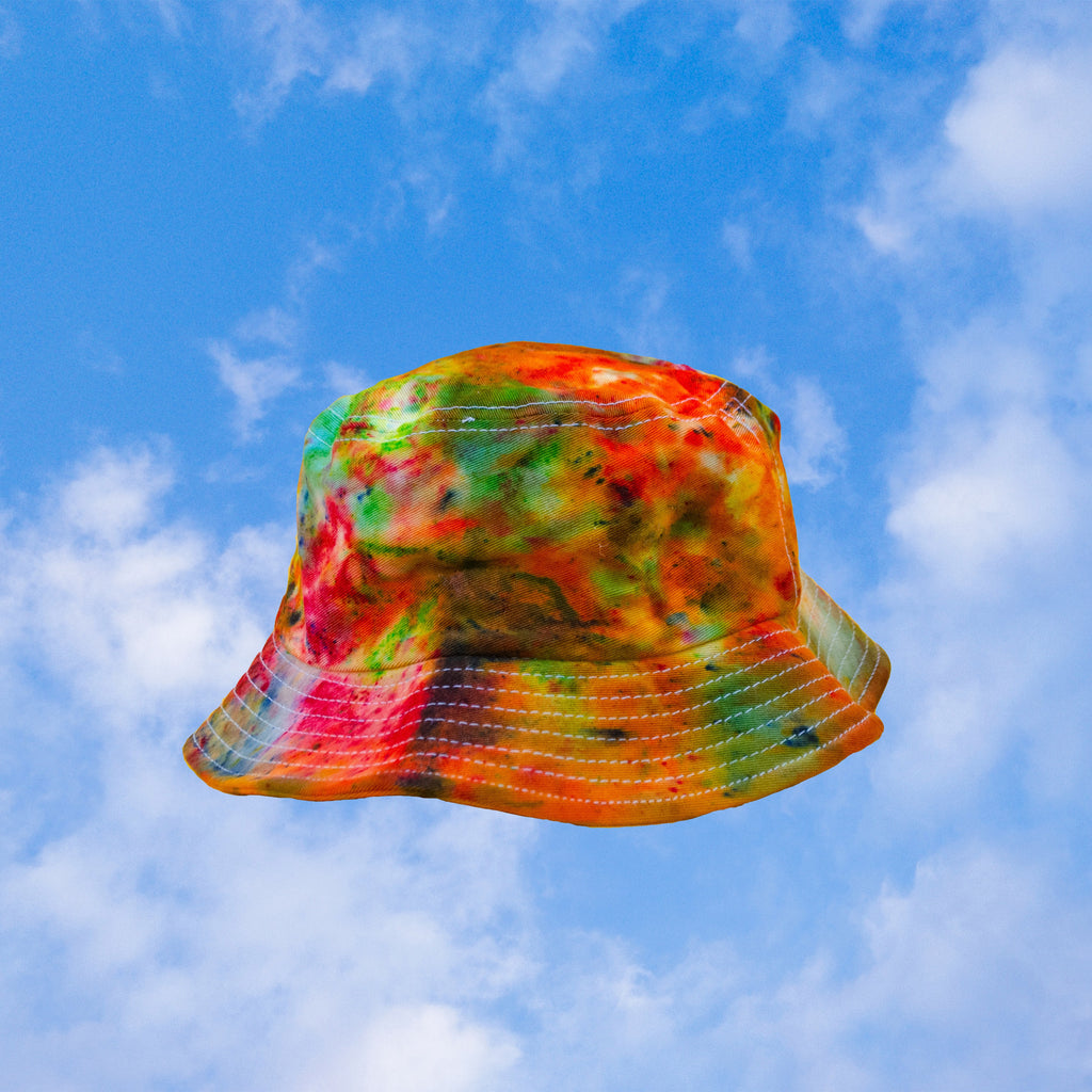 Rainbow Tie Dye Bucket Hat inspired by Rainbow Whirly Pops | hand-dyed tie dye by BEANDREAM