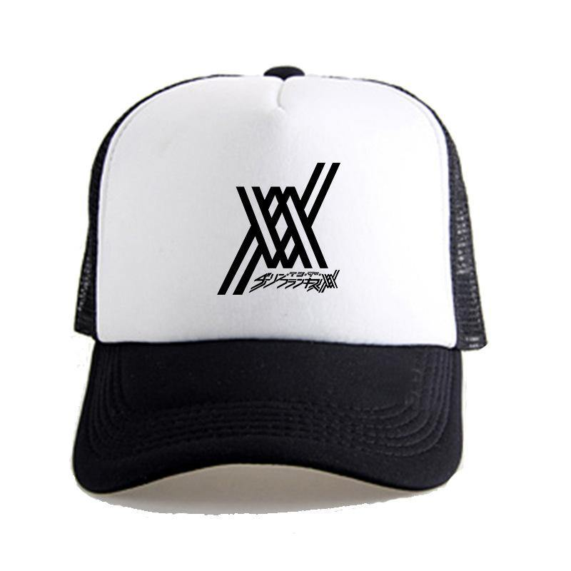 Anime DARLING in the FRANXX 02 Zero Two Printed Casual Hat Baseball Cap - aonal