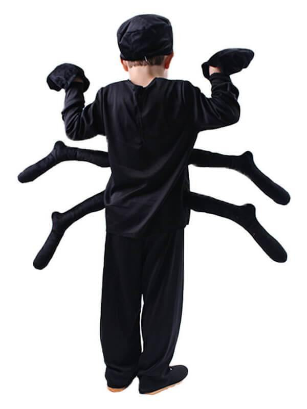 Halloween Spider Cosplay Costume Black Suit For Kids