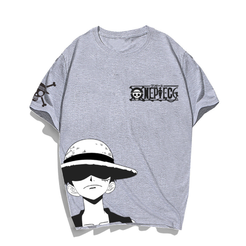 Anime ONE PIECE Printed T-Shirts Casual Short Sleeves Sweaters Hot Tops
