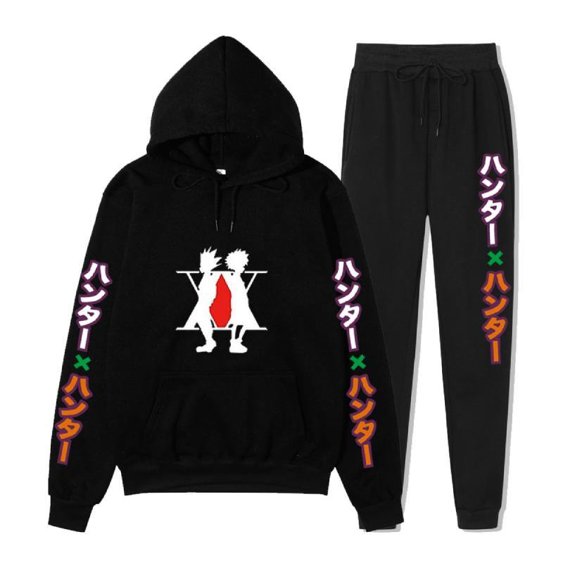Hunter X Hunter Anime Friends Printed Suits Casual Pullover Unisex Pants andHoodies - aonal