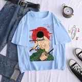 Anime ONE PIECE Zoro Printed T-Shirts Casual Short Sleeves Sweaters Hot Tops