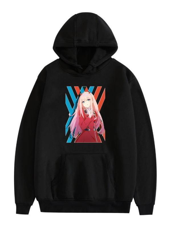 Darling in the Franxx Zero Two 02 Manga Anime Printed Hoodies Unisex Pullover Casual Sweatshirts - aonal