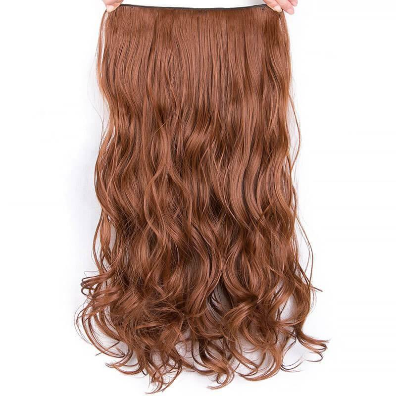 Natural Wig Clips Big Waves Curly Hair Full Summer Wigs with 6 Clips