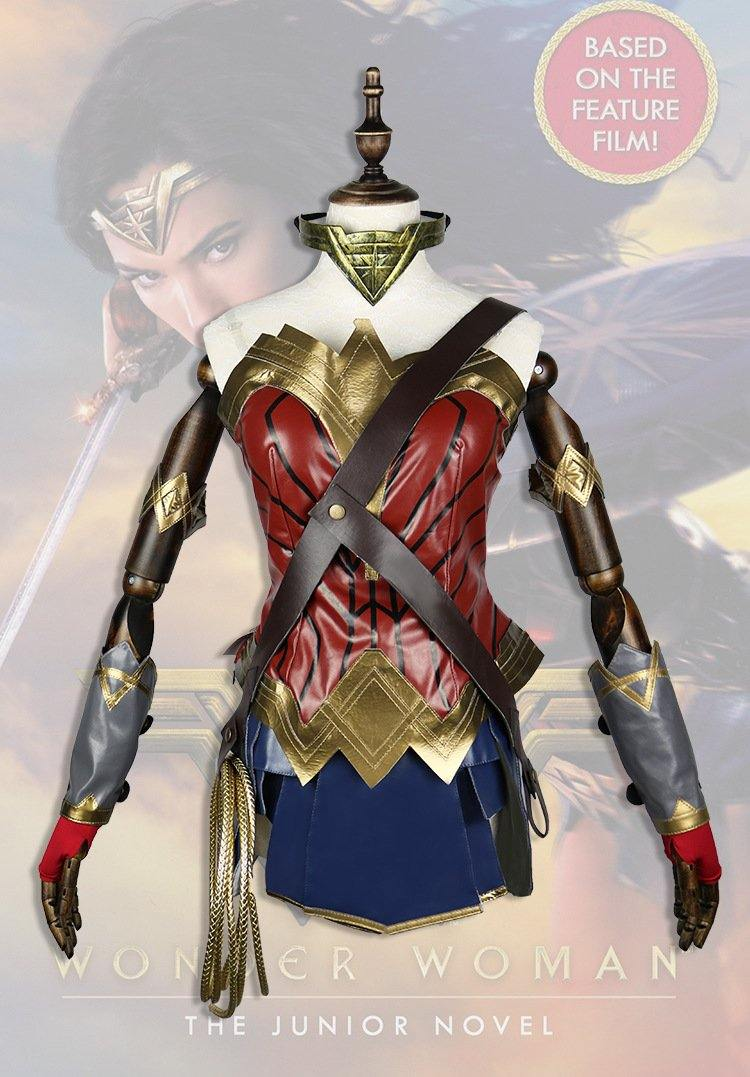 Wonder Woman Diana Cosplay Costume Adult Suits with Fashion Accessories - aonal