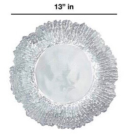 FROSTED GLASS CHARGER PLATES