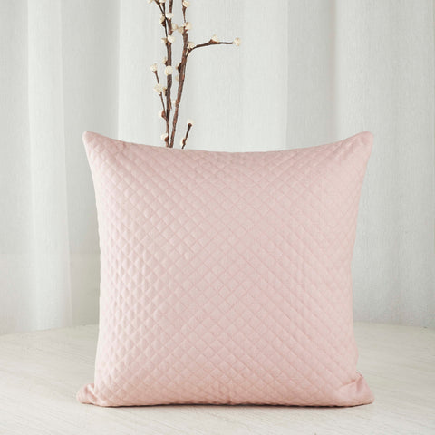 pink quilted shabby chic cushion