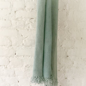 Powder Blue Faux Wool Throw - Studio Covers