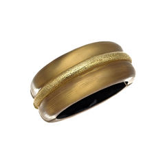 ALEXIS BITTAR Gold Plated Hinged Bracelet