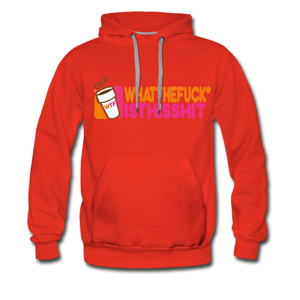Coffee Hoodie - Mens - red