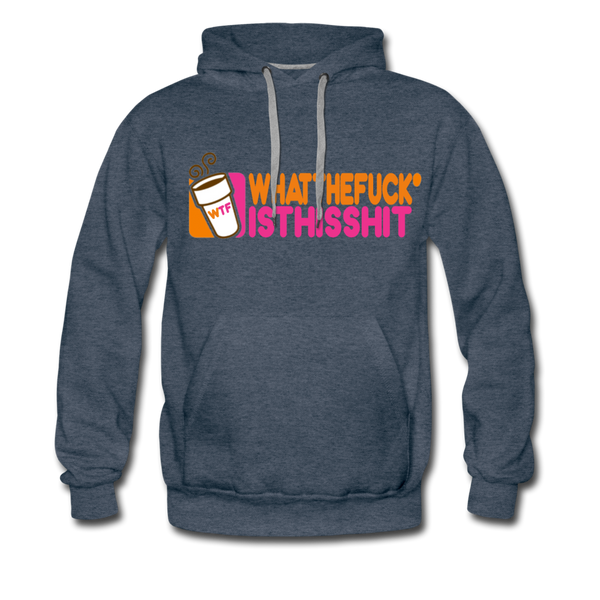 Coffee Hoodie - Mens - heather denim