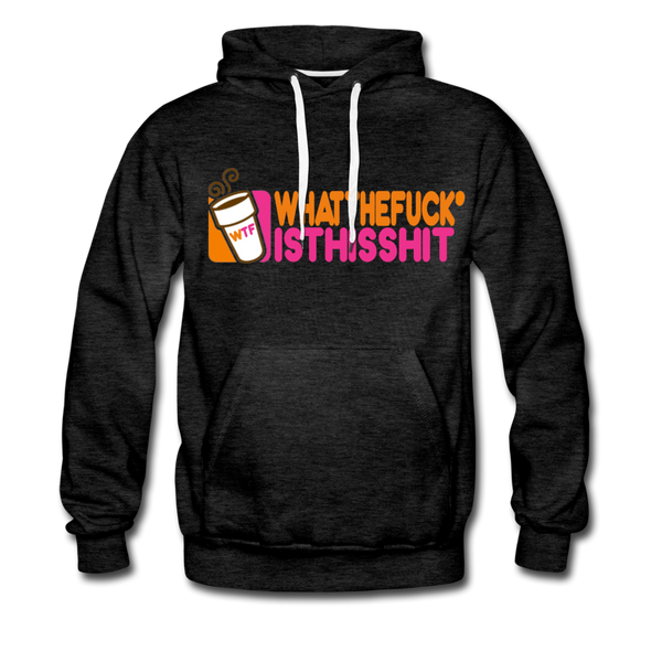 Coffee Hoodie - Mens - charcoal gray