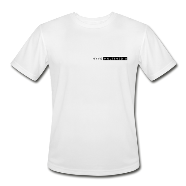 Hyve Multimedia A Shirt- Moisture Wicking Performance T-Shirt - white