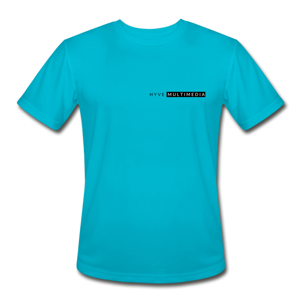 Hyve Multimedia A Shirt- Moisture Wicking Performance T-Shirt - turquoise
