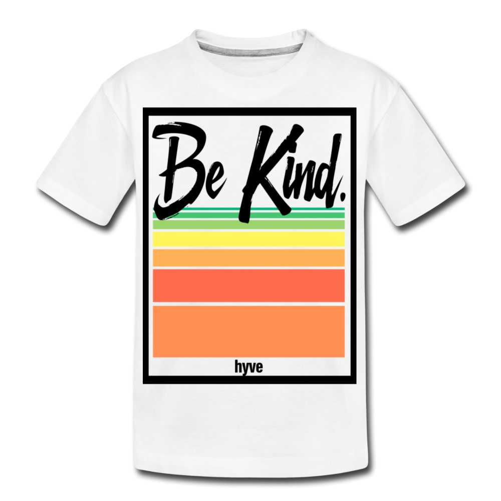 Be Kind - Kid's Premium Organic T-Shirt - white