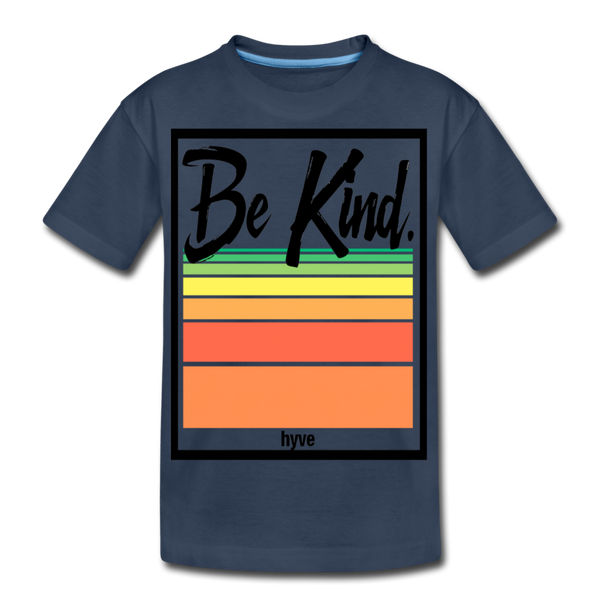 Be Kind - Kid's Premium Organic T-Shirt - navy