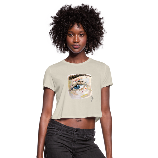 Women's Cropped Eye T-Shirt - dust