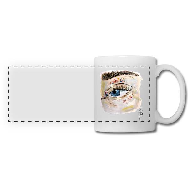 Panoramic Eye Mug - white