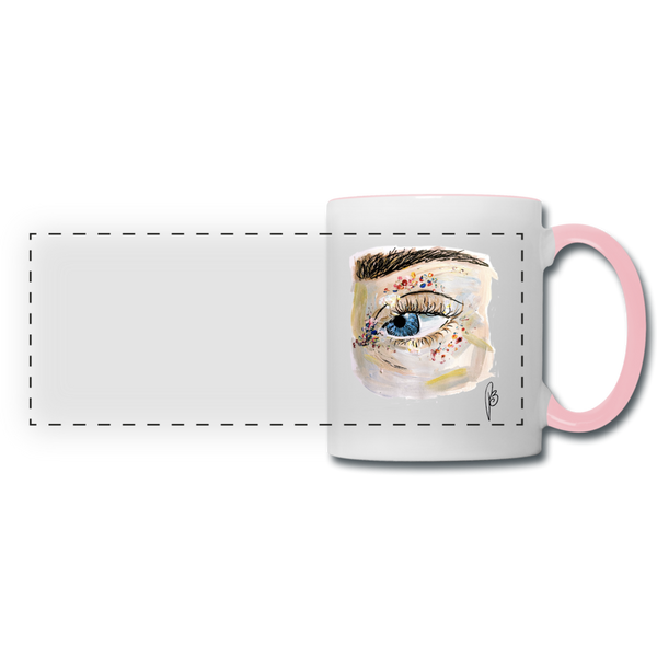 Panoramic Eye Mug - white/pink
