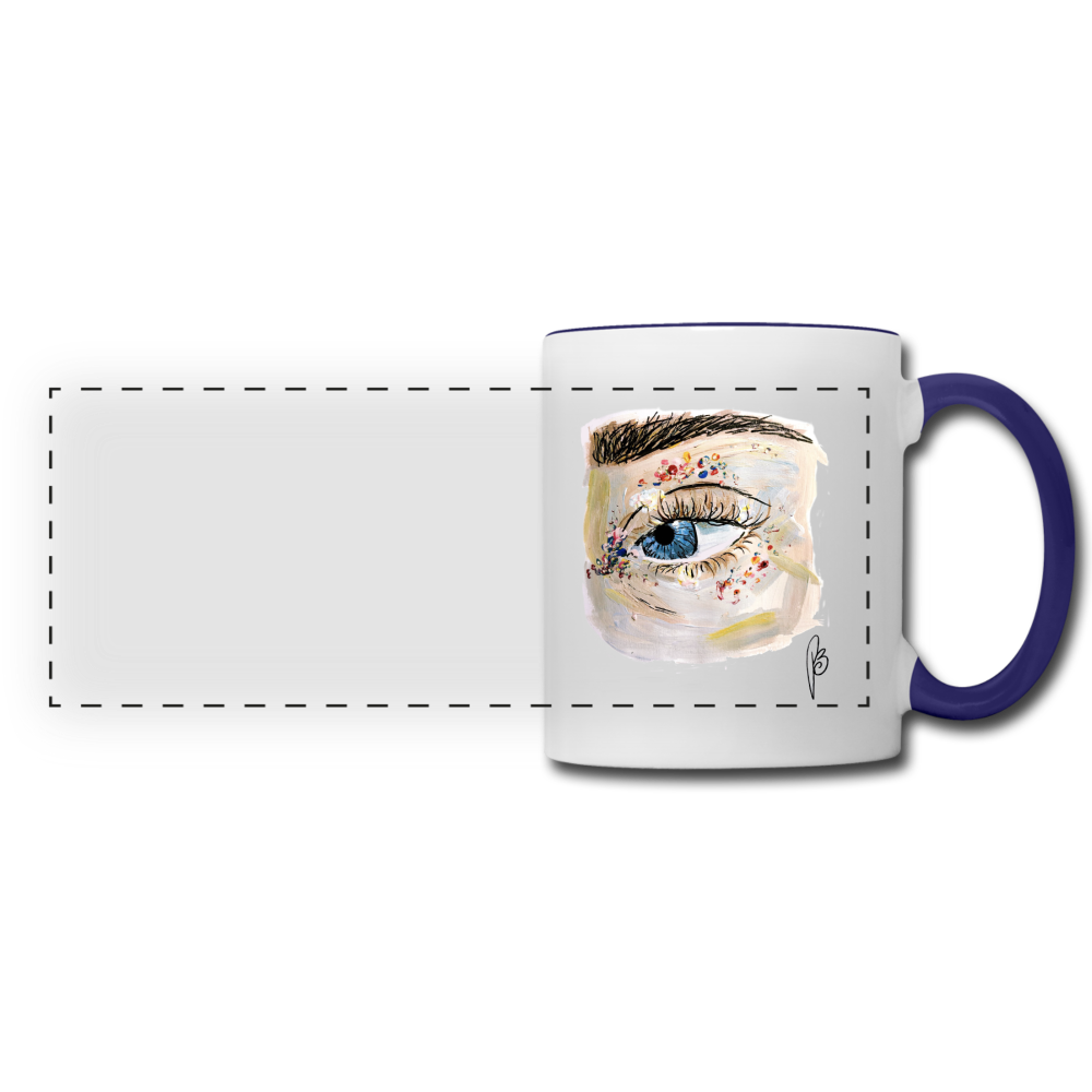 Panoramic Eye Mug - white/cobalt blue