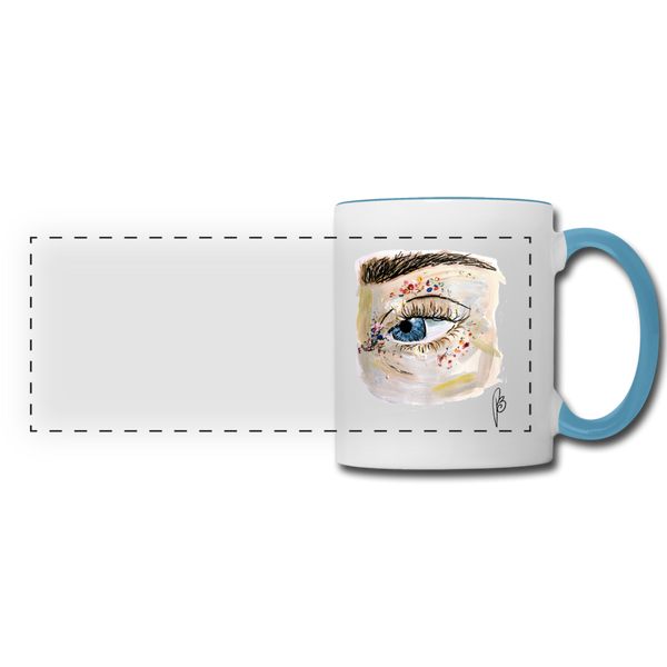 Panoramic Eye Mug - white/light blue