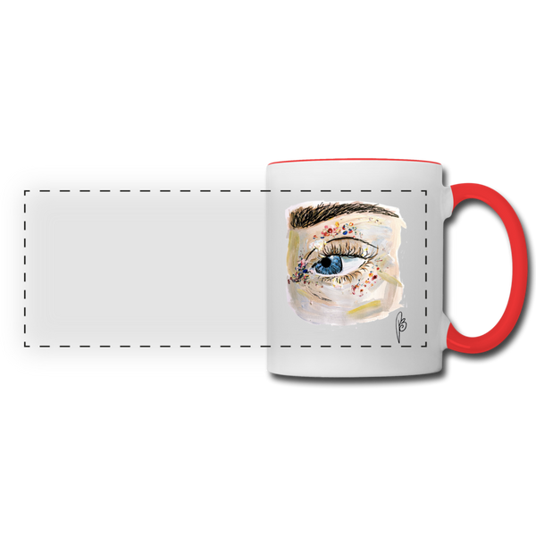 Panoramic Eye Mug - white/red