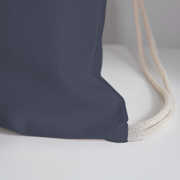 Afina-Cotton Drawstring Bag - navy