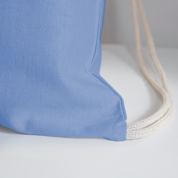 Afina-Cotton Drawstring Bag - carolina blue