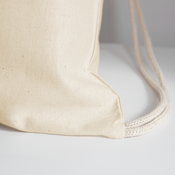 Afina-Cotton Drawstring Bag - natural