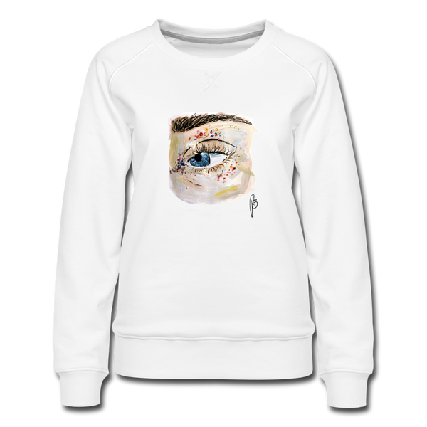 Eye-Women's Premium Sweatshirt - white