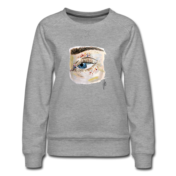 Eye-Women's Premium Sweatshirt - heather gray