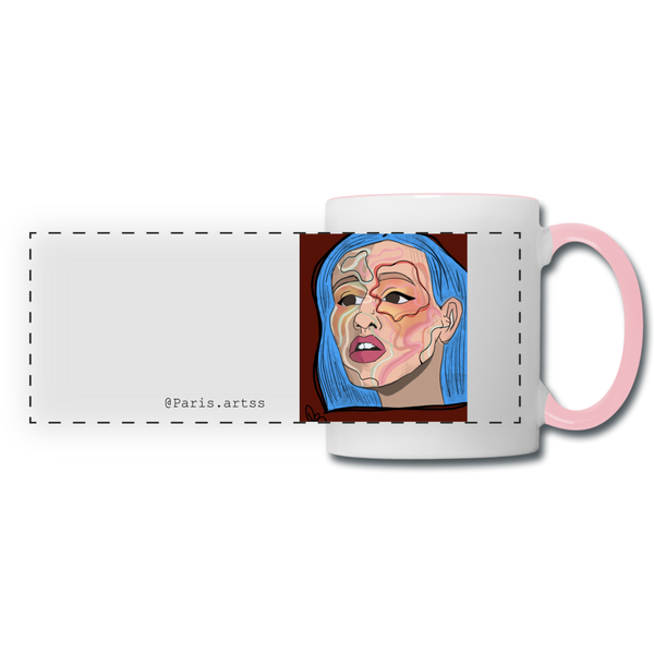 Acuarelas-Panoramic Mug - white/pink