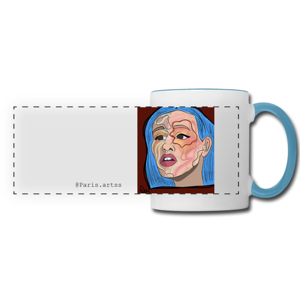 Acuarelas-Panoramic Mug - white/light blue
