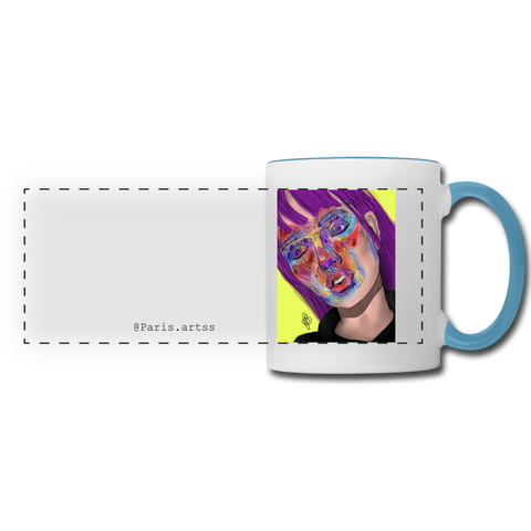 Prisma Veneer -Panoramic Mug - white/light blue