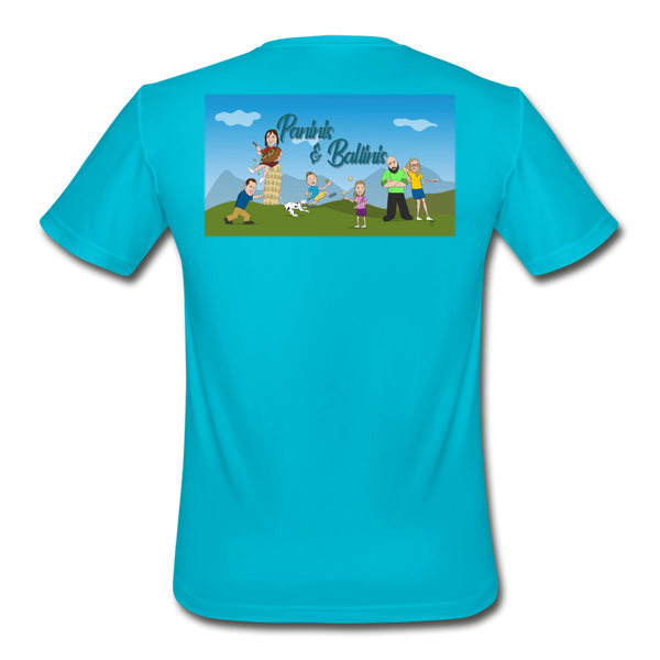 Paninis and Ballinis - Men's Moisture Wicking Performance T-Shirt - turquoise